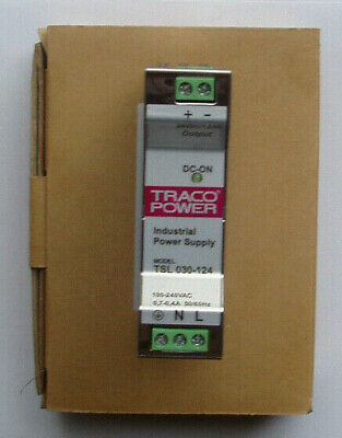 New TRACOPOWER DIN Rail Mount Power Supply 1.25A Output Current