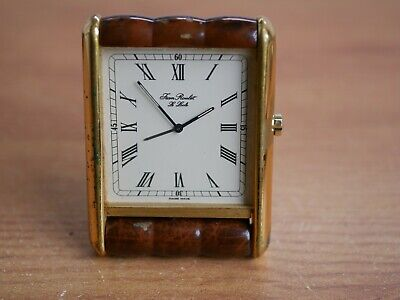 vintage JEAN ROULET LE LOCKE swiss made travel clock