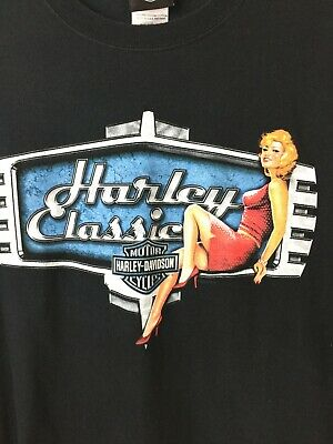 Harley Davidson Motorcycles Classic Pin Up Girl Montgomery AL short sleeve Large