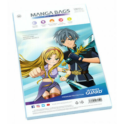 Ultimate Guard - Manga Comic Bags  [Resealable] [100]
