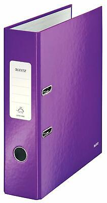 LEITZ WOW LEVER ARCH FILE 80MM SPINE FOR 600 SHEETS A4 PURPLE REF 10050062 (20c)
