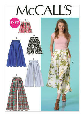 McCall's Sewing Pattern 7131 Misses 8-16 Easy Wide-Leg Shorts Culottes and Pants