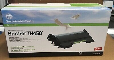 Staples Remanufactured Black Toner Cartridge Brother TN-450 High Yield 400229