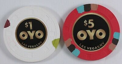 OYO Casino Chip Set , Las Vegas NV - New Release - Paulson Chips ( $1 & $5)