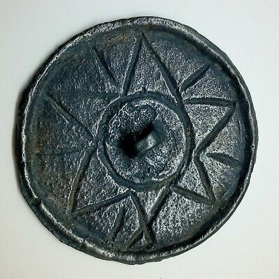 Bronze Mirror Star / Solar sign 53mm. 500-900AD. Pendant  Coin / Viking / Khazar