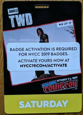 NYCC 2019 SATURDAY Badge New York Comic Con Ready to Ship