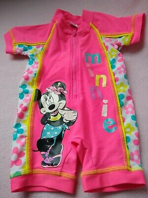 Girls Minnie Mouse UV swimsuit, age 6-9mths, Matalan, NEW!