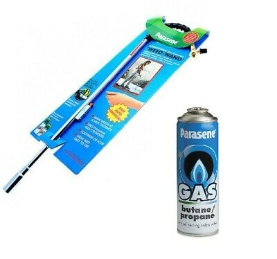Parasene Garden Weed Wand Killer Burner Blaster Burning Torch And Gas Cannisters
