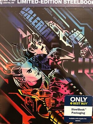 Valerian and the City of a Thousand Planets Steelbook Blu-ray/DVD/Digital NEW