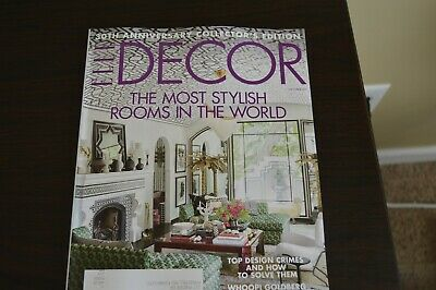 Elle Decor MAGAZINE- October 2019 -The Most Stylish Rooms In World -NEW