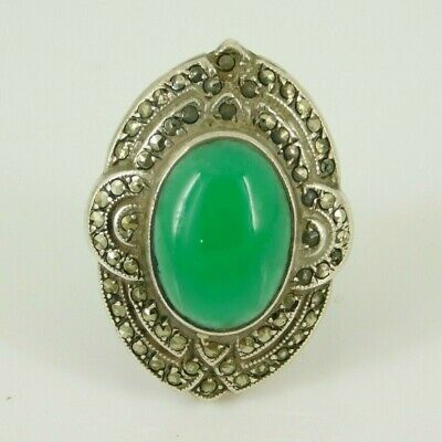 Vintage / Antique Art Deco Sterling Silver Ring Size 3 Needs Some Marcasite