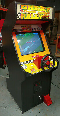 Great 1000 Mine Rally Full Size Arcade Stand Up Driving Game! Works Great!