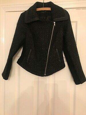Marks And Spencer Limited Collection Ladies Dark Grey Jacket Size 10