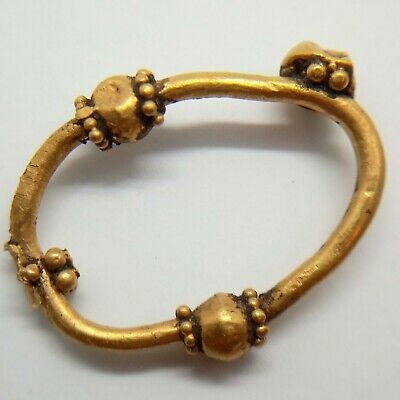 Gold Earring Grain / Amulet Pendant Ring 100-300AD. Scythians Celtic