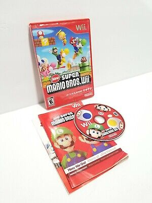 New Super Mario Bros. Wii (Nintendo Wii, 2009) TESTED & WORKING