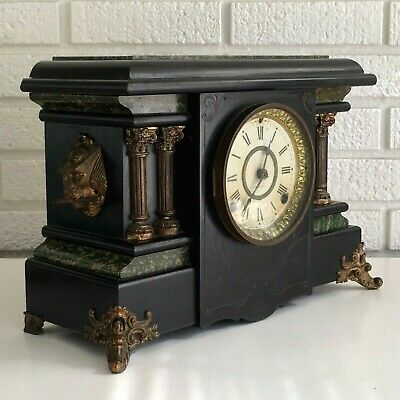 Antique Seth Thomas Adamantine Mantle Clock Pat 1880 Decor Repair Restoration
