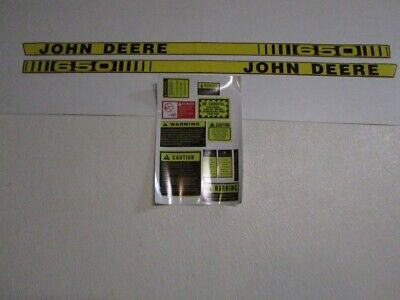To fit John Deere 650 tractor decal set hood stickers with caution kit