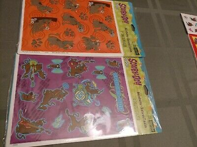 vintage 2002 SCOOBY-DOO PACKAGE OF STICKERS set of 2 NIP free ship 20 per pkg.