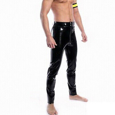 Latex Men Pants With Front Zipper Gummi Schwarz gut auss 0.4mm Rubber Size S-XXL