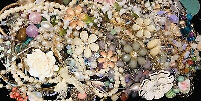 Huge Vintage to Now Estate Jewelry Lot - Estate Find - All Wearable Mixed 3Lbs +