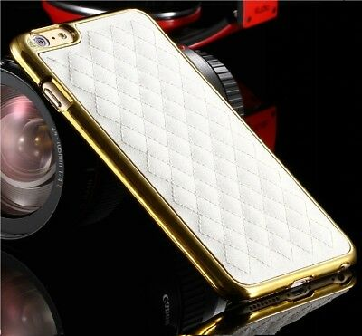 Luxury Classic Grid Pu Leather Hard Back Case Cover For iPhone 6 Plus/6s Plus.