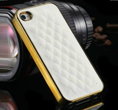 Luxury Classic Grid Ultra-Thin Pu Leather Hard Back Case Cover For iPhone 5/5s