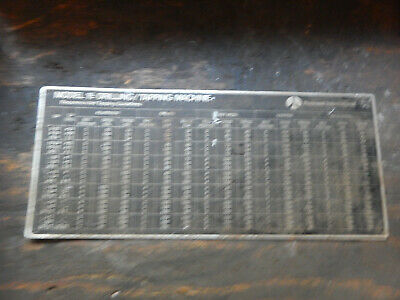 Older Delta Rockwell Model 15 Tapper Tapping Drill Press Threading Speed Chart