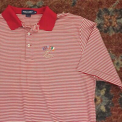 Men's Short Sleeve Polo Golf Shirt XL Walker Cup 2001 Ralph Lauren, Ocean Forest