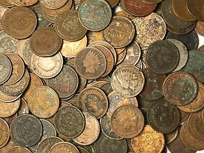 1900-1908 Indian Head Penny Roll 50 Full Date Coins Mixed Date Lot