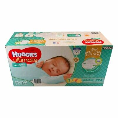 Huggies Newborn Nappies QTY 224 SIZE Number 1  -  up to 5kg.