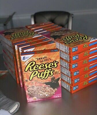 Limited Edition Travis Scott Reeses Puffs Cereal Family Cactus Jack New Free Shp