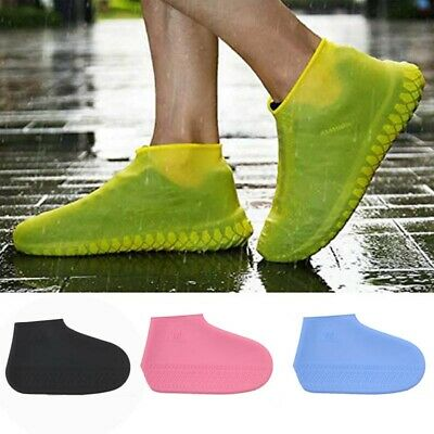 Silicone Overshoes Rain Proof Full Shoe Cover Heightening Non-slip Recyclable