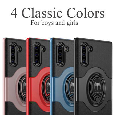 For Samsung Galaxy Note 10 /Note 10 Plus + Shockproof Case Kickstand Ring Cover