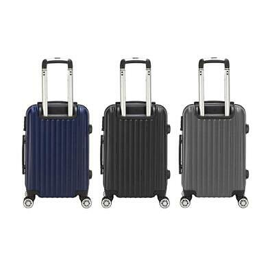 "20"" Waterproof Luggage Travel Bag TSA Lock ABS Trolley Spinner Carry On Suitcase"