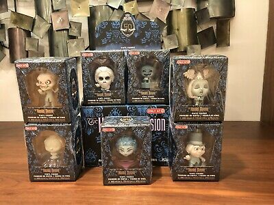 Complete Set Of 7 Disney's Haunted Mansion Funko Mystery Minis Target w/ Display