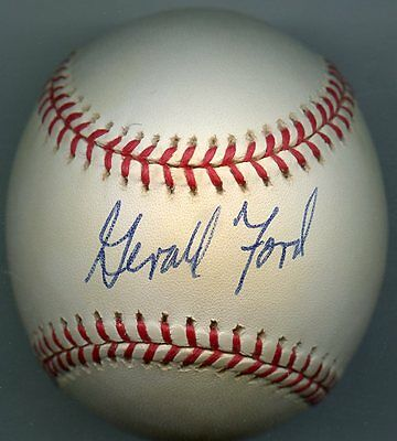 President GERALD R. FORD Single-Signed Baseball 1974 Watergate JSA Authenticated