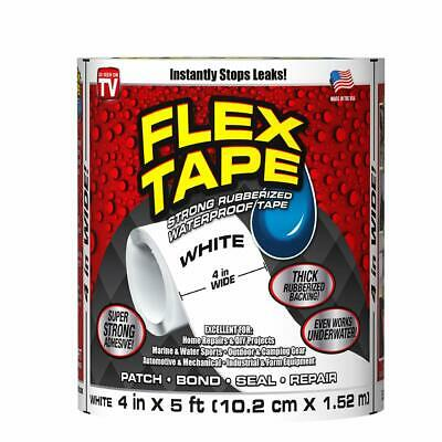 """Flex Tape Strong Rubberized Waterproof Tape, 4"""" x 5' - YOU PICK COLOR FREE SHIP"""