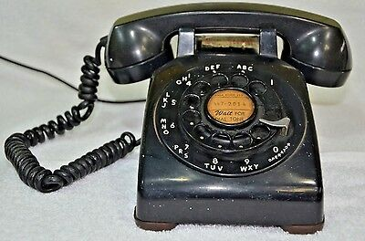 Vintage Bell System Art Deco Rotary Dial Telephone Phone Western Electric (050)
