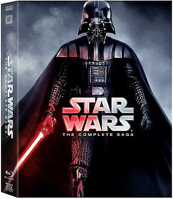 Star Wars: The Complete Saga Episodes I-VI (Blu-Ray, 2015, 9-Disc Box Set)Sealed