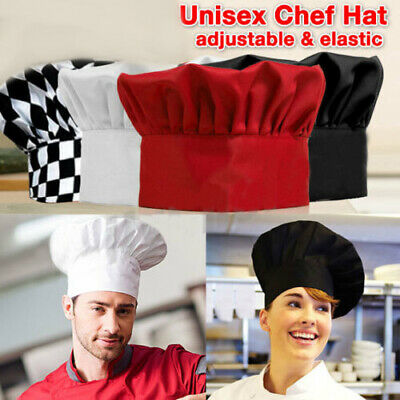 Unisex Kitchen Chef Hat Adjustable Elastic Baker Cap Cook Catering Restaurant jm