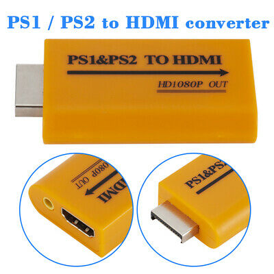 PS1 / PS2 to HDMI Converter Adapter HD 1080P HDMI Output Video Audio AU