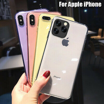 Shockproof Silicone Case For IPHONE 11 Pro Max XS XR X 8 7 Plus 6S Transparent