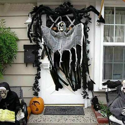 Skull Halloween Hanging Ghost Haunted House Grim Reaper Horror Props Decor B7