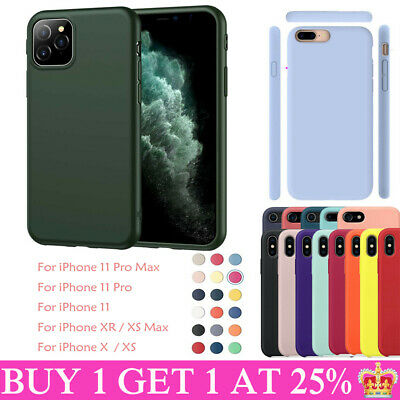 For Apple iPhone 11 Pro Max 7 8 Plus Soft Silicone OEM Original Case Cover Back