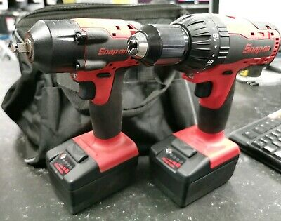 "SNAP-ON 18v 3/8"" Impact Wrench & 1/2"" Hammer Drill"