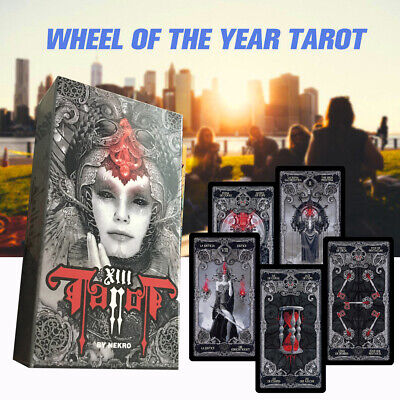 78 Pcs Dark Tarot Card Deck Mysterious Divination Personal Board Game English