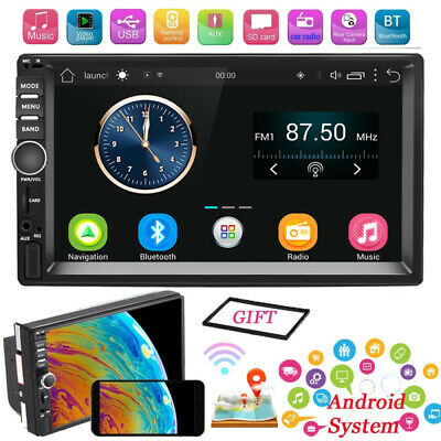 7'' Android 6.0 Autoradio Mit GPS Navi RDS AM FM Bluetooth 2DIN MP5 Player DHL