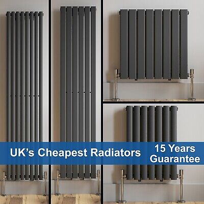 Anthracite Designer Radiator Vertical Horizontal Flat Panel Oval Column Rads