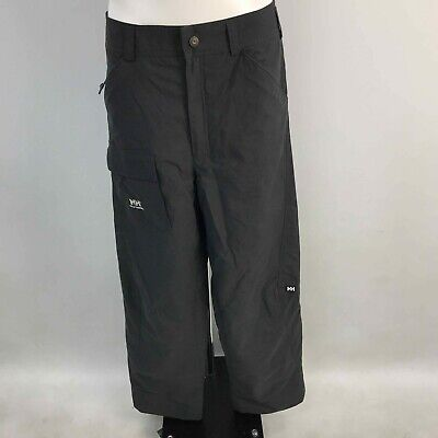 HELLY HANSEN Black Waterproof Pocketed Outdoor Trousers Mens Size L TH240325