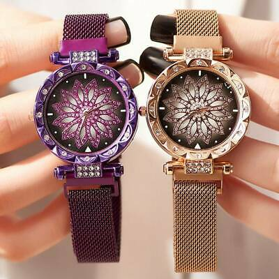 Women's Ladies Watch Starry Sky Wrist Watch Bracelet Watches Magnetic Stainless
